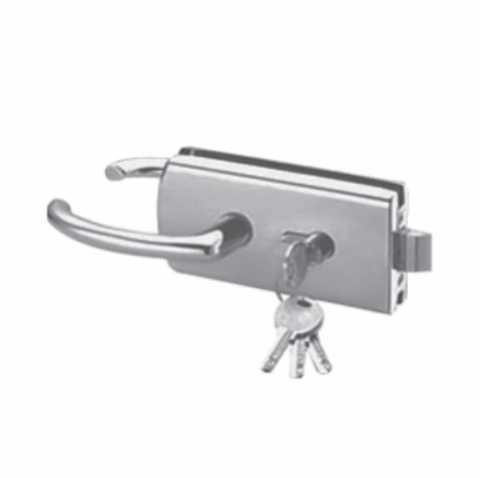 Herraje brk 592a de seguros y chapas para puertas de for Manijas para puertas de vidrio