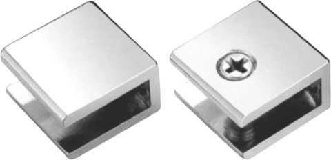 Herrajes de clips para entrepa os herraje brk 751 for Herrajes para mamparas de cristal