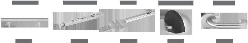 Cat logo de herrajes de madera br ken accesorios para for Manijas para puertas de madera